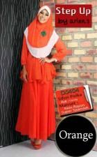 baju muslim trendy Gamis-Terbaru-Step-Up-Talita-Orange