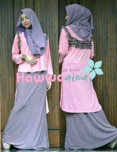Model Baju Gamis Moden, Gamis-terbaru-Aquila-by-hawwaaiwa-Pink
