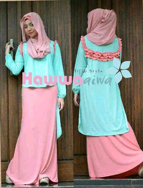Aquila Soft Green Baju Muslim Gamis Modern