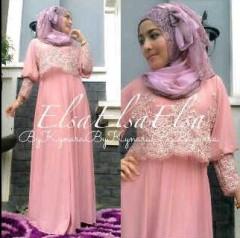 model baju muslimah modis Pusat-Gamin-terbaru-Elsa-by-Kynara-Dusty-Pink