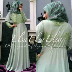 baju muslimah gamis modern Pusat-Gamin-terbaru-Elsa-by-Kynara-Green