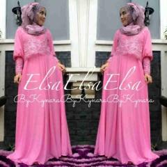 Model baju muslimah trendy Pusat-Gamin-terbaru-Elsa-by-Kynara-Pink