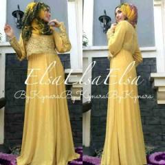 baju muslim elegan Pusat-Gamin-terbaru-Elsa-by-Kynara-Yellow