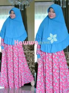 Model busana hijab Pusat-Gamis-Terbaru-Akifah-by-Hawwa-Aiwa-Blue-Magenta