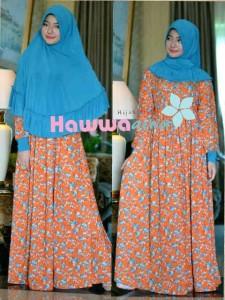 model baju gamis Pusat-Gamis-Terbaru-Akifah-by-Hawwa-Aiwa-Blue-Orange
