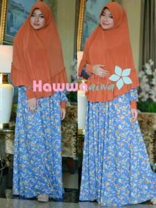 model baju gamis terbaru 2014 Pusat-Gamis-Terbaru-Akifah-by-Hawwa-Aiwa-Orange-Blue