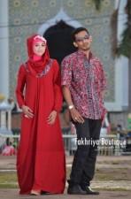baju pesta muslimah modern, Pusat-Gamis-Terbaru-Atiya-Couple-by-fakhriya-Red
