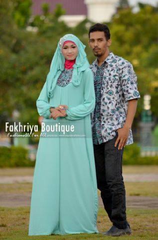 dress pesta muslimah Pusat-Gamis-Terbaru-Atiya-Couple-by-fakhriya-baby-Green