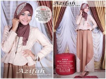 baju muslim modern Pusat-Gamis-Terbaru-Balimo-Azifah-Brown