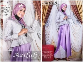 baju muslim modern full Pusat-Gamis-Terbaru-Balimo-Azifah-Purple