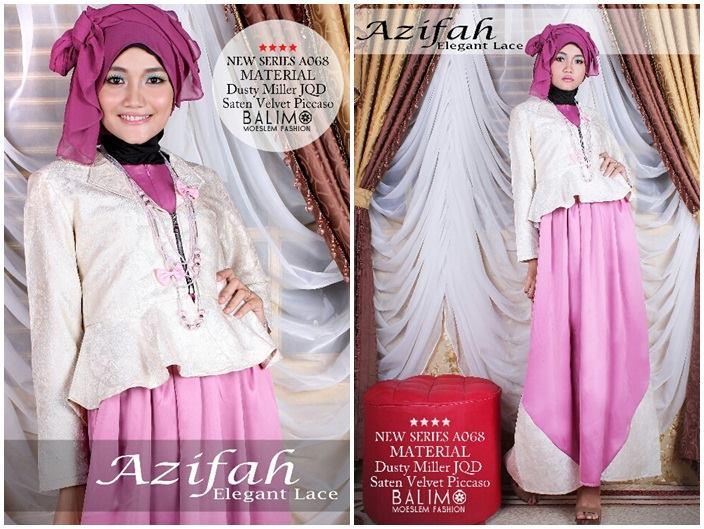 Balimo Azifah Violet Baju Muslim Gamis Modern