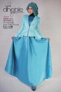 Model Gamis Modern,  Pusat-Gamis-Terbaru-Balimo-Dhebie-Blue-Turquice