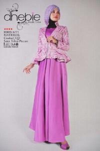 busana muslim modern modis, Pusat-Gamis-Terbaru-Balimo-Dhebie-Fusia-Purple