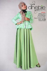 Baju Gamis Modern Pusat-Gamis-Terbaru-Balimo-Dhebie-Green