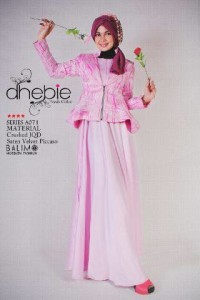 baju muslim modern trendy, Pusat-Gamis-Terbaru-Balimo-Dhebie-Pink
