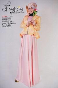 model baju muslim modern, Pusat-Gamis-Terbaru-Balimo-Dhebie-Yellow
