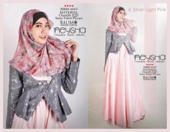 baju kerja muslimah modis Pusat-Gamis-Terbaru-Balimo-Neysha-A065-4-Silver-Light-Pink
