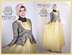 baju gamis terbaru, Pusat-Gamis-Terbaru-Balimo-Neysha-A065-5-Lemon