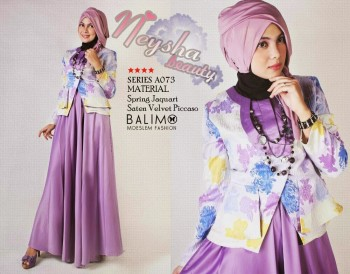 baju muslimah online Pusat-Gamis-Terbaru-Balimo-Neysha-Purple
