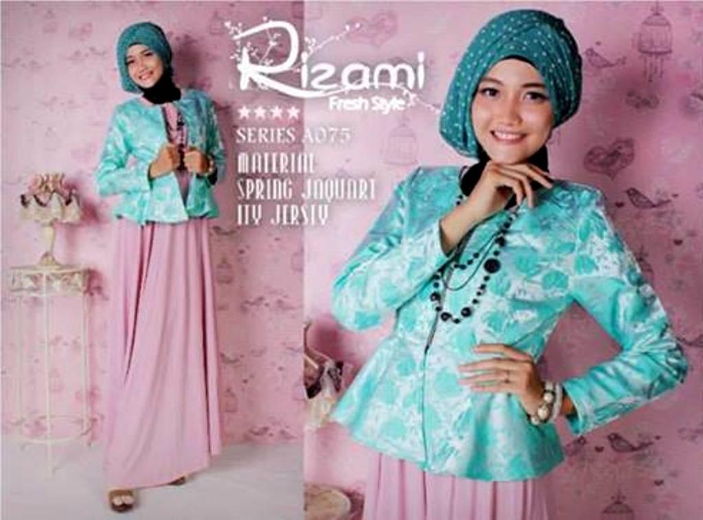 Balimo Rizami Soft Salmon Baju Muslim Gamis Modern