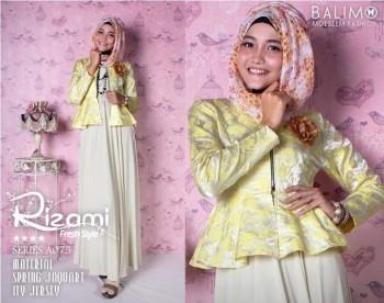 model baju modern Pusat-Gamis-Terbaru-Balimo-Rizami-Soft-Yellow