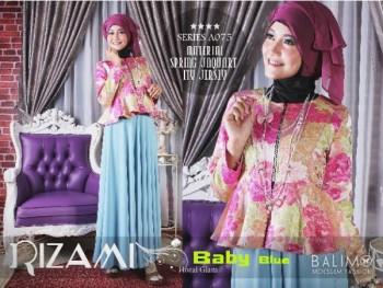 Model fashion baju muslim modern Pusat-Gamis-Terbaru-Balimo-Rizami-Vol-II-Baby-Blue