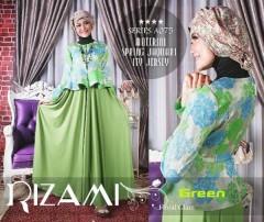 baju muslim modern buat pesta Pusat-Gamis-Terbaru-Balimo-Rizami-Vol-II-Green
