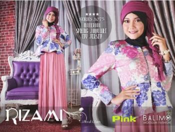 baju muslim terbaru 2014 Pusat-Gamis-Terbaru-Balimo-Rizami-Vol-II-Pink