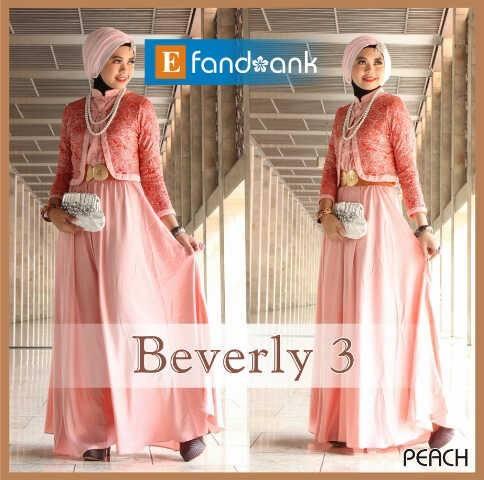Beverly 3 By Efan Peach Baju Muslim Gamis Modern