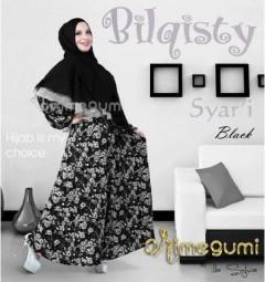 baju gaun muslimah Pusat-Gamis-Terbaru-Bilqisty-by-Orimegumi-Black