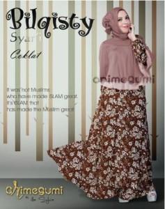 baju muslim untuk pesta, Pusat-Gamis-Terbaru-Bilqisty-by-Orimegumi-Coklat