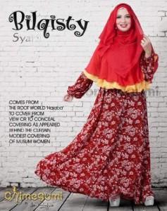 baju muslim pesta terbaru Pusat-Gamis-Terbaru-Bilqisty-by-Orimegumi-Merah