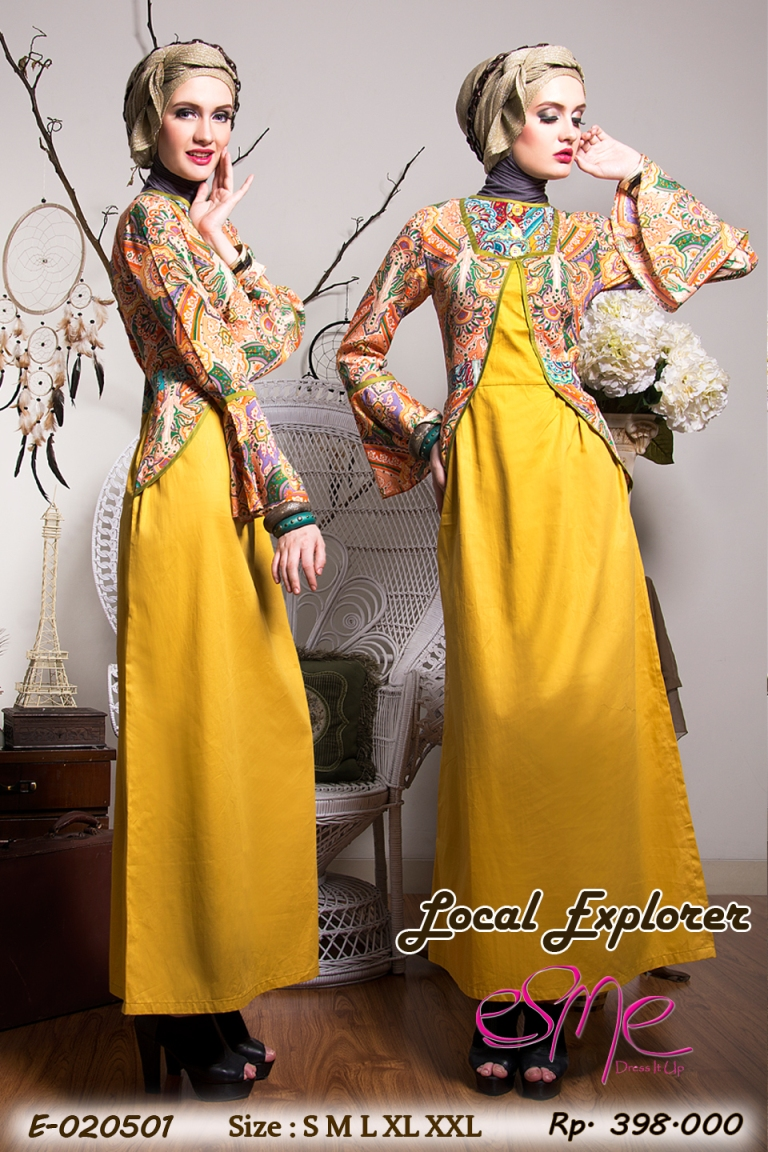 Esme local explorer e 020501 baju muslim gamis modern Baju gamis terbaru xxl