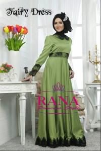 baju muslim modern trendy, Pusat-Gamis-Terbaru-Fairy-Dress-Hijau