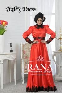 model baju muslim modern, Pusat-Gamis-Terbaru-Fairy-Dress-Merah