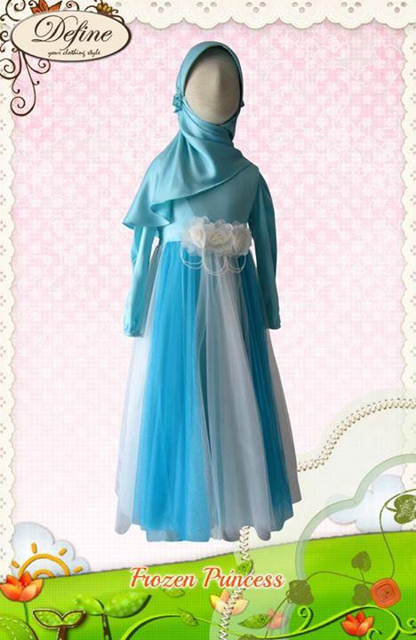 Frozen Princess Baju Muslim Gamis Modern