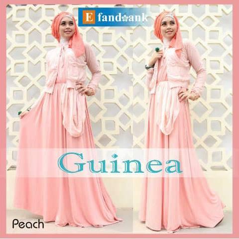 Guinea By E2 Peach Baju Muslim Gamis Modern