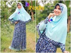 baju muslim modern Pusat-Gamis-Terbaru-Inodhi-Baby-Blue-Abstrak