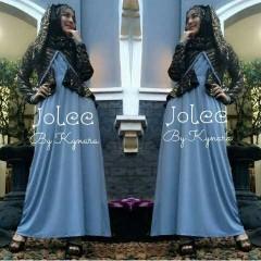 fashion baju muslim modern , Pusat-Gamis-Terbaru-Jolee-By-Kynarra-Biru
