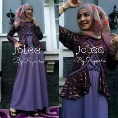 baju muslim dewasa modern Pusat-Gamis-Terbaru-Jolee-By-Kynarra-Lavender
