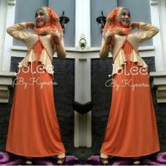 mode pakaian muslim modern Pusat-Gamis-Terbaru-Jolee-By-Kynarra-Orange