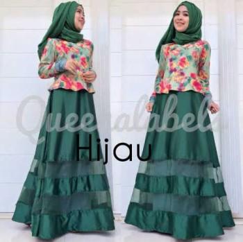 Mediva Vol 1 By Queena Hijau Baju Muslim Gamis Modern