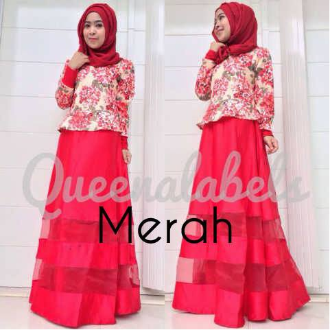 Mediva Vol 2 Merah Baju Muslim Gamis Modern