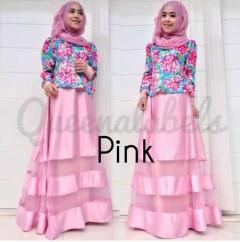 model baju yg sedang tren Pusat-Gamis-Terbaru-MEDIVA-Vol-2-by-Queena-Pink