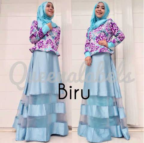Mediva Vol 2 Biru Baju Muslim Gamis Modern