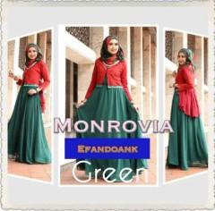 Model Baju gamis muslim, Pusat-Gamis-Terbaru-MONROVIA-By-Efandoank-Green