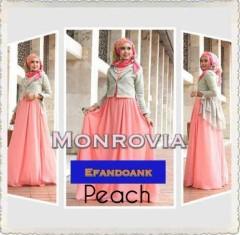 baju muslim modern dan elegan, Pusat-Gamis-Terbaru-MONROVIA-By-Efandoank-Peach