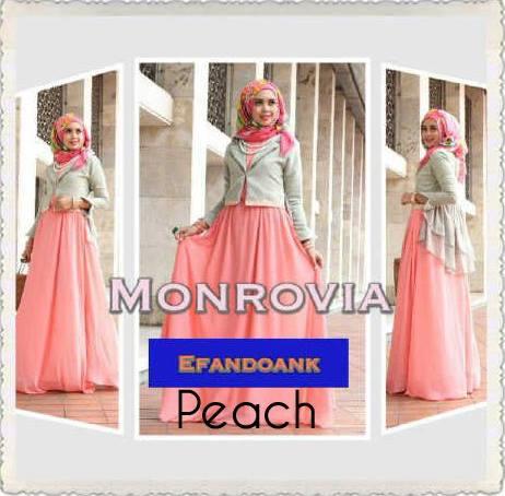 Monrovia By Efan Peach Baju Muslim Gamis Modern