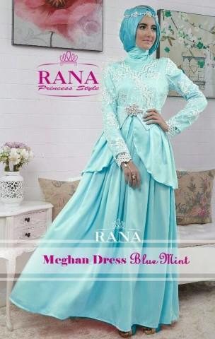 baju muslim elegan, Pusat-Gamis-Terbaru-Meghan-Dress-by-Rana-Baby-Blue-Mint