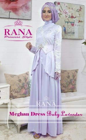 baju muslim eksklusif, Pusat-Gamis-Terbaru-Meghan-Dress-by-Rana-Baby-Lavender